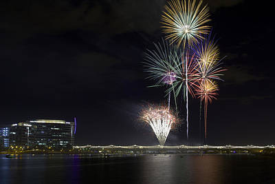 Photograph - Tempe Fireworks 2015-5 by Paul Riedinger