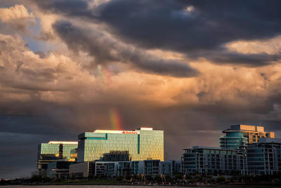 Photograph - Tempe Town Lake Rainbow by Dave Dilli