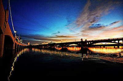 Photograph - Tempe Town Lake Sunset by Saija  Lehtonen