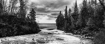 Infrared Photograph - Temperance River, Minnesota by John Emery