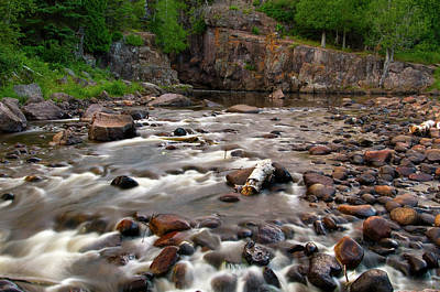 Photograph - Temperance River by Steve Stuller