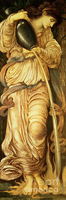 Pouring Drawing - Temperantia, by Edward Coley Burne-Jones