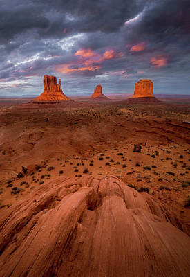 Photograph - Tempestuous Sunset // Monument Valley // Arizona  by Nicholas Parker