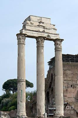 Temple Of Castor And Pollux Photograph - Tempio Dei Dioscuri by Fabrizio Ruggeri