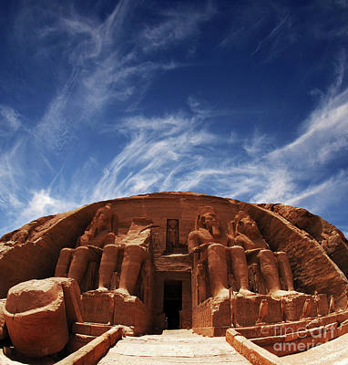 Photograph - Temple At Abu Simbel Egypt by Bob Christopher