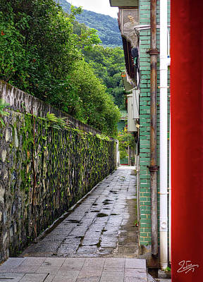 Photograph - Temple Back Wall by Endre Balogh