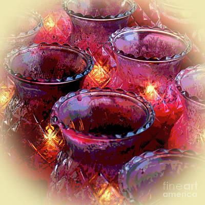 Photograph - Temple Candles Vignette by Cheryl Del Toro