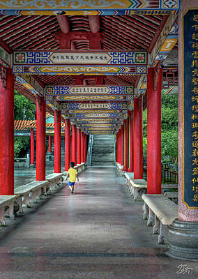 Photograph - Temple Corridor by Endre Balogh