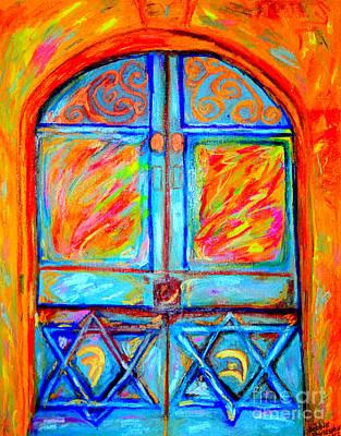 Temple Door Original by Debbie Davidsohn