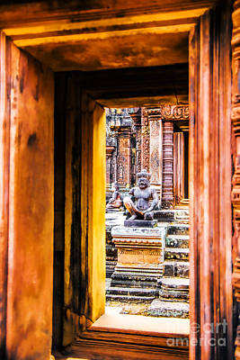 Photograph - Temple Doorway by Rick Bragan