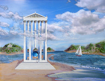 Painting - Temple For No One by Steve Karol