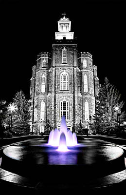 Temple Fountain  Art Print