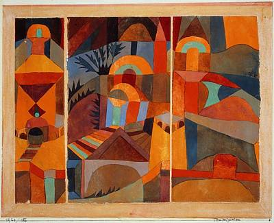 Painting - Temple Gardens by Paul Klee