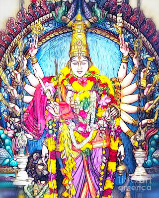 Hindu Goddess Photograph - Hindu Temple Art Collection by White Stork Gallery