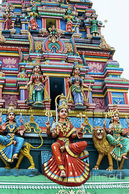 Goddess Worship Photograph - Temple Gopuram by Tim Gainey