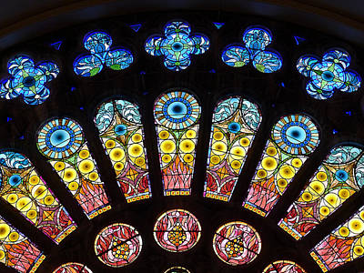 Photograph - Temple - Half Rose Window by Richard Reeve