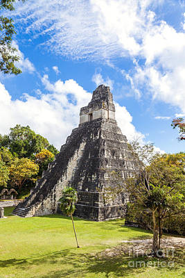 Tikal Photograph - Temple I Of The Jaguar - Mayan Ruins Of Tikal - Guatemala by Matteo Colombo