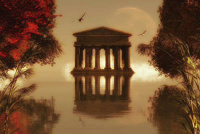 Painting - Temple In A Lake by Jan Keteleer