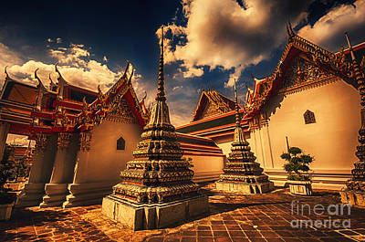 Photograph - Temple In Bangkok by Charuhas Images