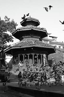 Photograph - Temple In Durbar Square, Kathmandu by Aidan Moran