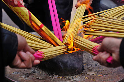 Photograph - Temple Incense by Lee Webb