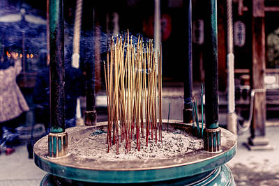 Photograph - Temple Incense by Nisah Cheatham