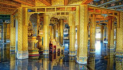 Photograph - Temple Interior Of Gold by Ian Gledhill