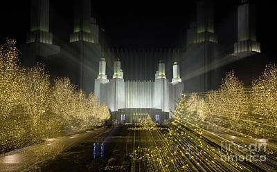 Photograph - Temple Lightscape by Art Cole