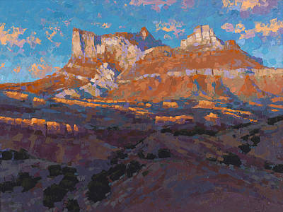 Temple Mountain Tapestry Art Print