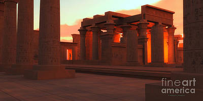 Archeology Painting - Temple Of Ancient Pharaohs by Corey Ford