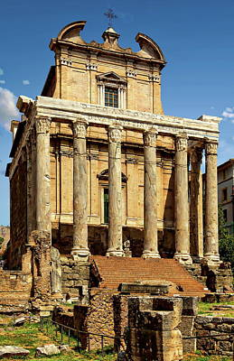 Photograph - Temple Of Antoninus by Anthony Dezenzio
