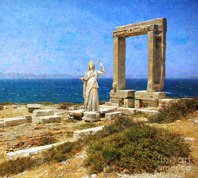 Daytime Mixed Media - Ancient Greek Temple With Hera by Garland Johnson