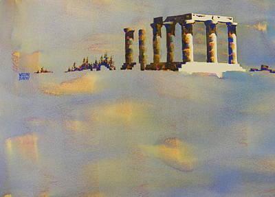 Temple Of Apollo Corinth Greece Art Print