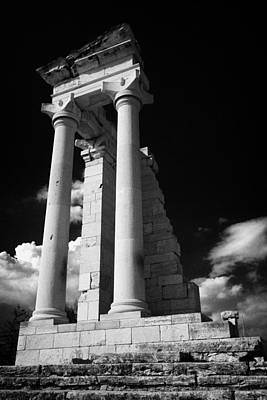 Temple Of Apollo Hylates In The Sanctuary Of Apollon Ylatis At Kourion Archeological Site Cyprus Art Print by Joe Fox