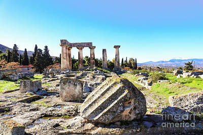 Photograph - Temple Of Apollo In Ancient Corinth by Susan Vineyard