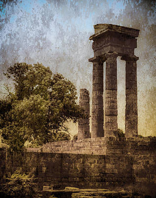 Photograph - Rhodes, Greece - Temple Of Apollo by Mark Forte