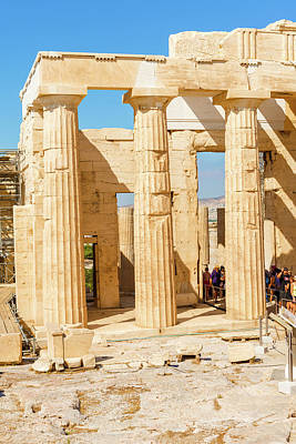 Photograph -  Temple Of Athena And Nike In Acropolis Hill In Athens by Marek Poplawski