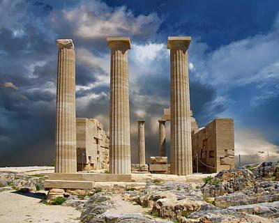 Temple Of Athena Art Print