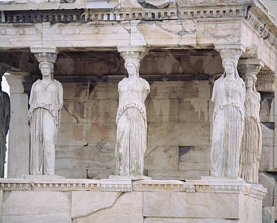 Sculptural Photograph - Temple Of Athena Nike Erectheum by Panoramic Images
