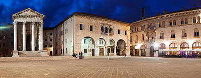 Ancient Civilization Photograph - Temple Of Augustus And Town Hall by Panoramic Images