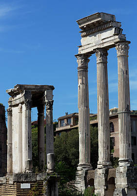 Temple Of Castor And Pollux Photograph - Temple Of Castor And Pollux, Roman Forum, Rome, Italy by Bruce Beck