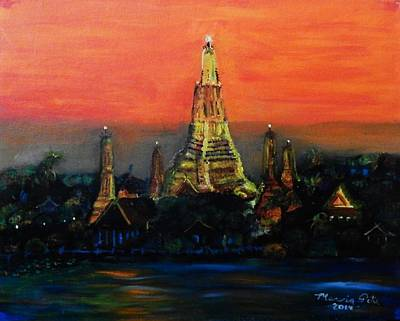 Bangkok Painting - Temple Of Dawn by Marvin Pike