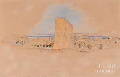 Painting - Temple Of Edfou Upper Egypt by Celestial Images