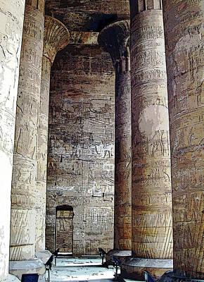 Photograph - Temple Of Edfu by Debbie Oppermann