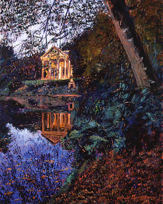 English Garden Painting - Temple Of Flora by David Lloyd Glover