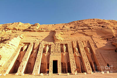 Temple Of Hathor/nefertari Art Print