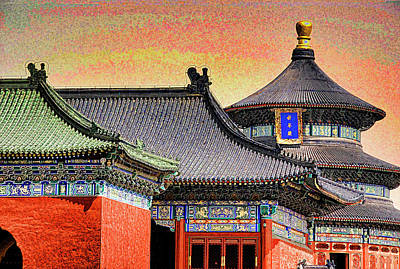 Digital Art - Temple Of Heaven by Dennis Cox Photo Explorer