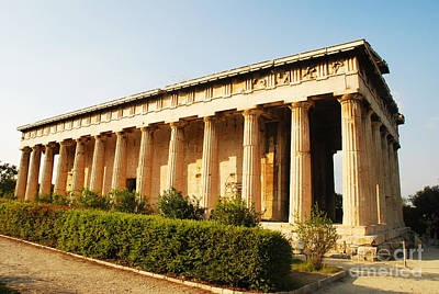 Greek Ruins Photograph - Temple Of Hephaestus - Athens Greece by Just Eclectic