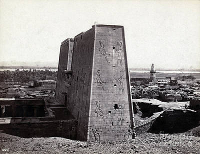 Temple Of Horus At Edfu, 1850s Art Print by Science Source