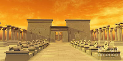 Archeology Painting - Temple Of Isis by Corey Ford